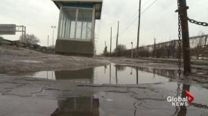 Puddle trouble for Dorval bus stop